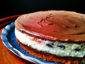 Coconut Custard Chocolate Mousse Cake